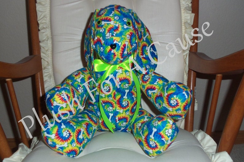 Tie Dye Dog ~ Stuffed with Love by Plush For A Cause