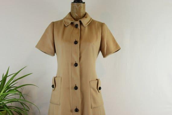 1960s button front dress | 1960s vilano dress | 19