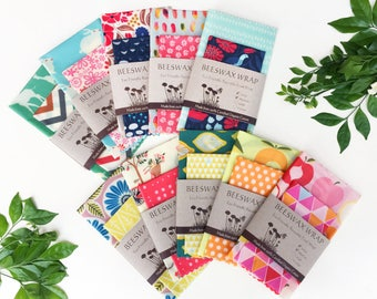 Beeswax Wrap   Organic Cotton    1 each of S, M   Lunch Pack   Reusable Eco Wrap