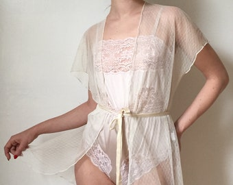 1980's Lace Negligee