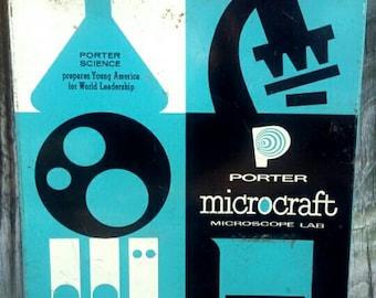50's microscope set, Porter Labs Microcraft science kit