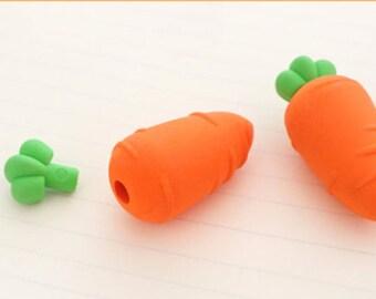 Carrot eraser, Novelty eraser, eraser set