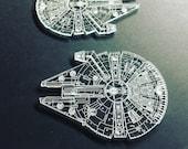 Millennium Falcon Clear Coaster Set