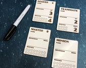 Perilous Tales Dry Erase Character Dashboard Set