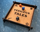 Perilous Tales Themed Dice Tray