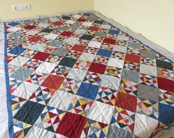 cover, bedspread, fully handmade patchwork