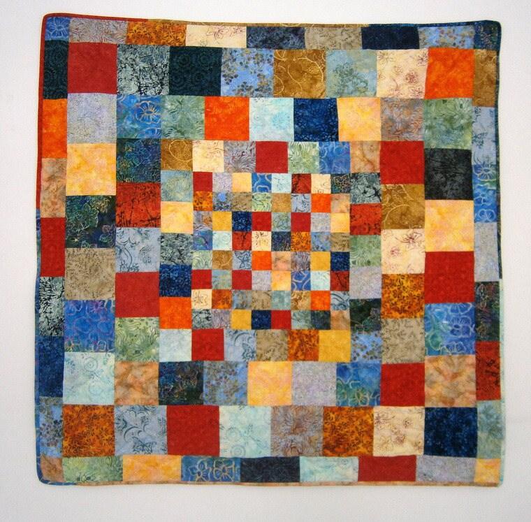 plaid 39 39 dessus de lit quilt patchwork tissus etsy. Black Bedroom Furniture Sets. Home Design Ideas
