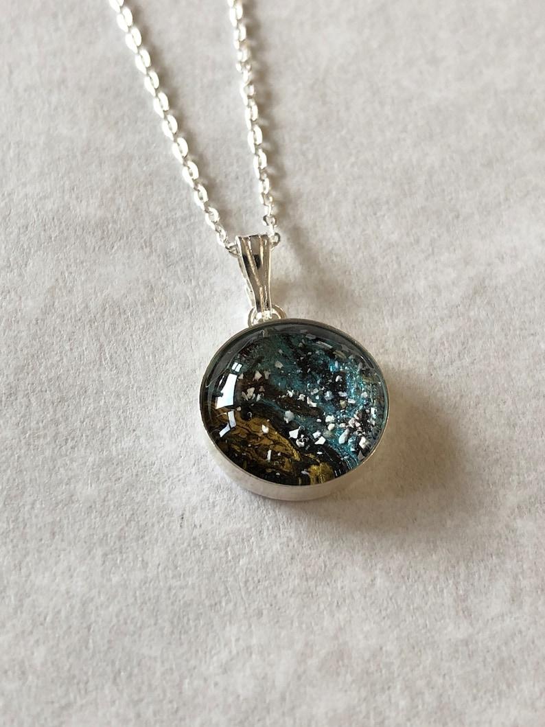 Silver Memorial Necklace Ash Pendant Pet Urn Cremation Jewelry Pet Urn Ashes Memorial Necklace Sterling Silver Setting