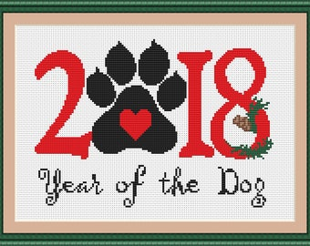 2018 happy new year cross stitch new year gift merry christmas embroidery pattern merry christmas cross stitch funny new year lover gift