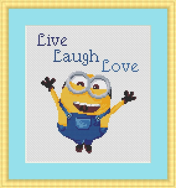 Minion cross stitch pattern Design Disney embroidery disney | Etsy