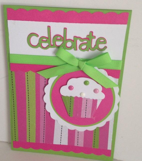 Cupcake Birthday Card Etsy