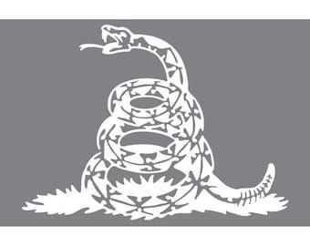 Gadsden Snake  (Vinyl Decal)