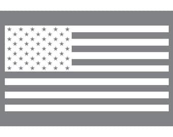 US Flag  (Vinyl Decal)