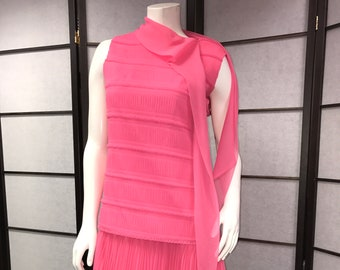 60s Vintage Stunning Pink Short Dress - Flapper Dress