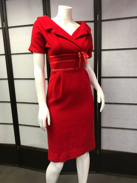 50s Vintage Red Lovely Dress