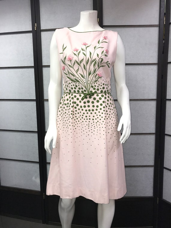 60s Vintage Lovely Cover Girl of Miami Pink Dress