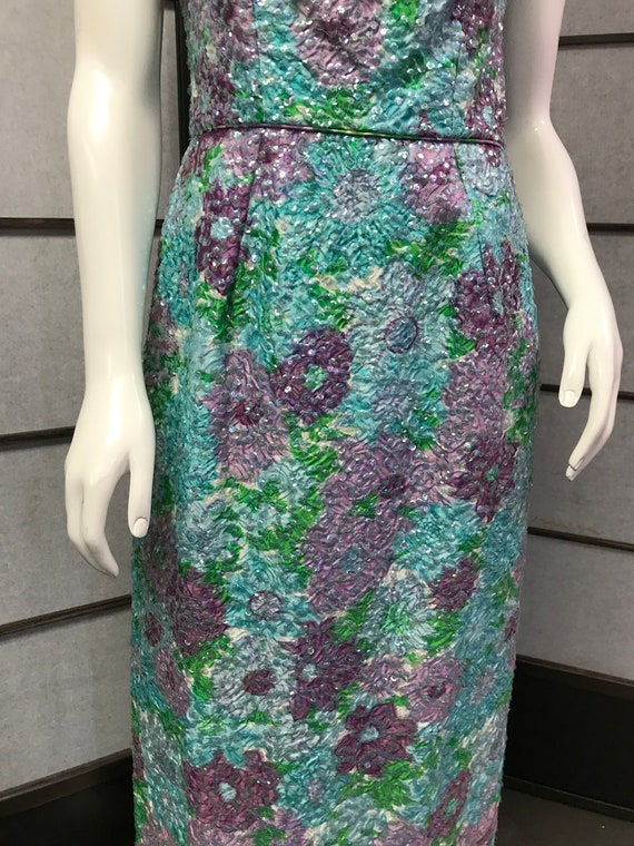 50s Vintage Best & Co Stunning Sequin Maxi Dress - image 5