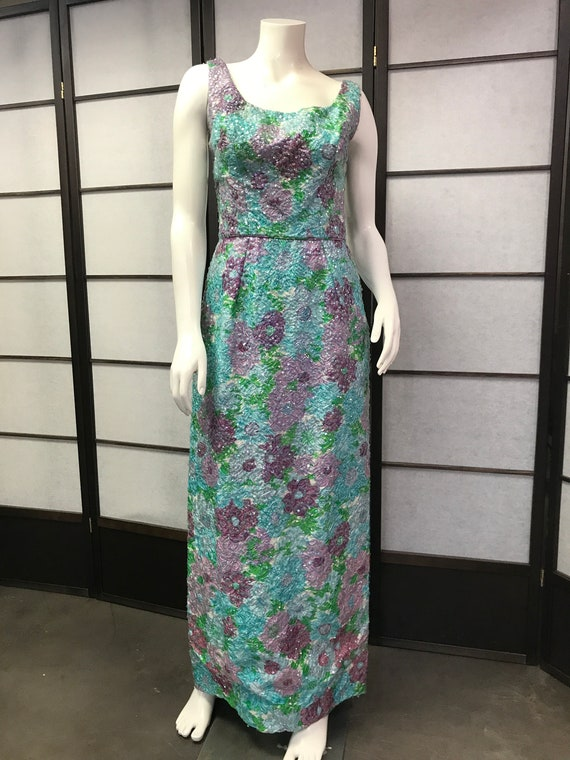 50s Vintage Best & Co Stunning Sequin Maxi Dress - image 1