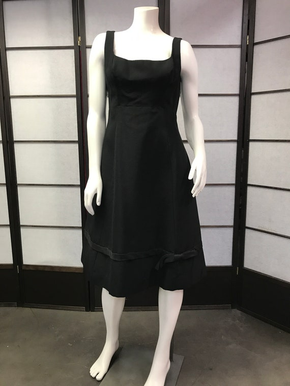 60s Vintage Anne Fogarty Black Cocktail dress
