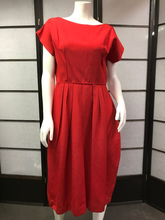 50s/60s Aldens Beautiful Red Dress