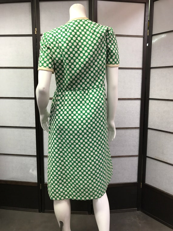 Traina Polka 60s York Amazing New Dress Vintage Dot Teal HqYntAFY