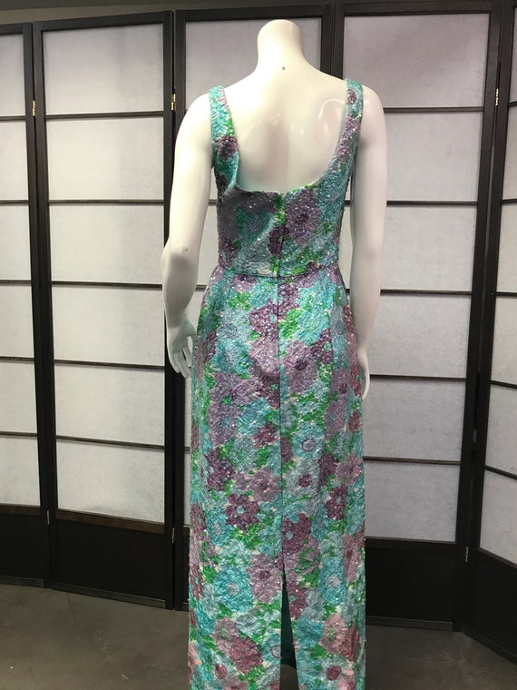50s Vintage Best & Co Stunning Sequin Maxi Dress - image 7