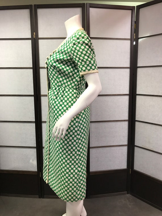 Teal 60s Polka Traina Dress Vintage York Amazing New Dot ZzrqpZw4