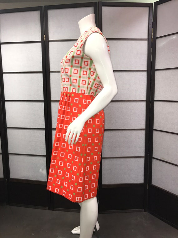 by Leslie Print with Belt amp; with Kasper Vintage Jacket Joan Dress Squares fCEqR7w