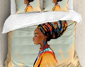 Duvet and Two Shams African American Full/Queen Set