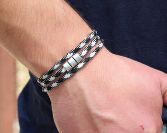 Men's Paracord Bracelet Christmas   Vegan Wrap Paracord Bracelet Triple Wrap Paracord Bracelet Christmas Gift men