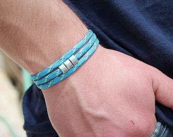 Men's Paracord Bracelet Mens Wrap Bracelet Bracelet Mens  Bracelet Double or Triple Wrap Bracelet Paracord Bracelet