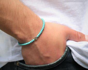 Turquoise Bracelet Men's Beaded Bracelet Mens  Turquoise  Bracelet Turquoise Bracelet Men's Turquoise  Bracelet Mens Bracelet