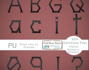 Digital Alphas 20th Centenary Faux Black Mesh