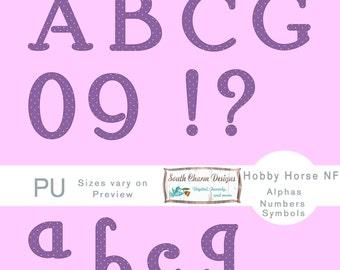 Digital Alphas Hobby Horse NF - Purple, pink dots
