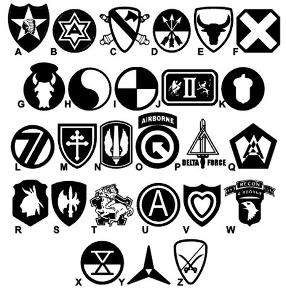 Us Army Symbols Vinyl Decals For Car Window Laptop Case Etsy