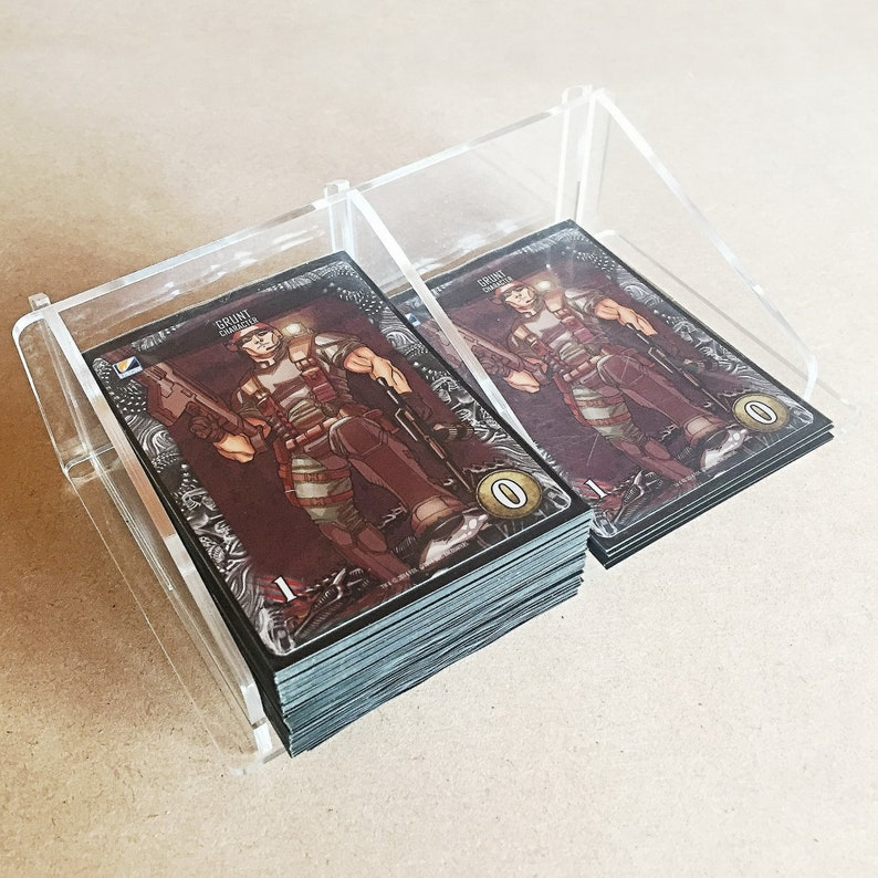 Pickup and Discard for Sleeved Cards 100 Card Tray