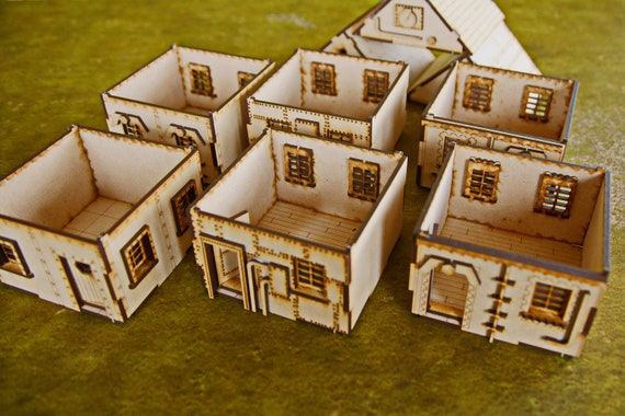3 Steampunk Buildings - Pack A - 28mm Modular Buildings for Wargamers &  Roleplay