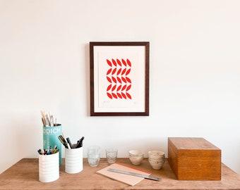 Framed Scarlet Leaves Print (Small)