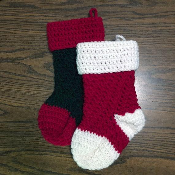 Crochet Christmas Stocking.Crochet Christmas Stockings