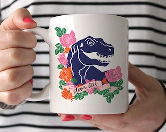 Dinosaur Mug, Coffee Mug, Dinosaur Cup, Clever Girl Mug, Nerd Mug, Geek Mug, Tumblr Mug, Tea Mug, Coffee Cup, Tea Cup, Gifts for Co Workers,