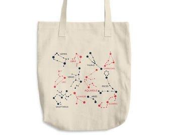 Zodiac Tote Bag, Zodiac Sign Tote Bag, Zodiac Gift, Tumblr Aesthetic, Zodiac Constellation Tote Bag, Gemini Tote Bag, Scorpio Tote Bag
