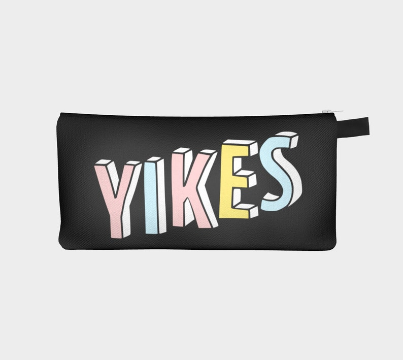 4b310f924f7c5 Yikes Pencil Case Yikes Pencil Bag Yikes Pencil Pouch Coin | Etsy