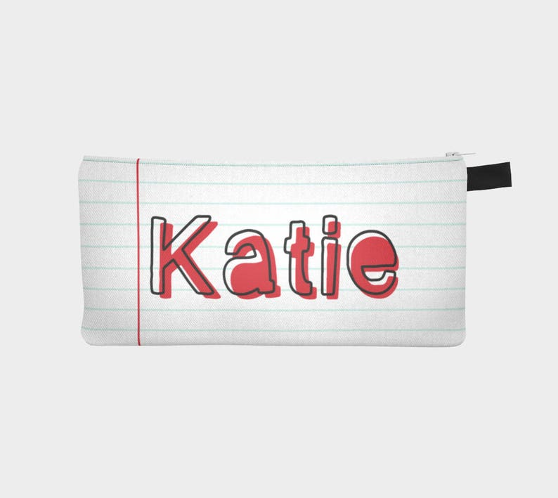 Custom Name Pencil Bag Lined Pencil Bag Personalized Pencil Case Personalized Teacher Gift Zipper Bag Personalized Teacher Pencil Bag