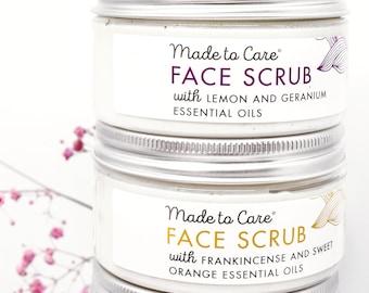 Bamboo Powder Exfoliating Face Scrub with Essential Oils