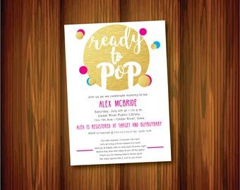 Ready to pop invite etsy ready to pop baby shower invite filmwisefo