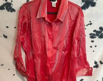 Vintage Nicola Pink/Silver Sheen Blouse