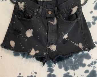 Levis Cut Off Bleached/Distressed Shorts