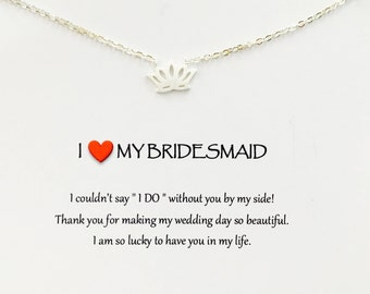 Bridesmaids gift - l love my bridesmaid gift bridesmaids gift cheap - bridesmaid gift idea - bridesmaids - bridesmaids necklace
