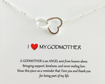 Christening gift Godmother gift Baptism gift Personalized baptism Christening gifts Godmother Gift for Godmother Necklace Jewelry