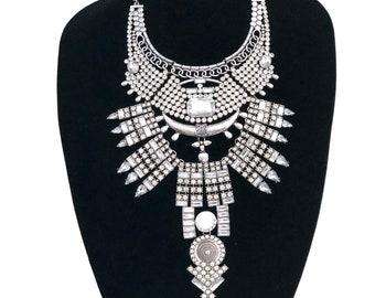 Statement necklace - Boho necklace - Ethnic necklace - big necklace - Crystal necklace - Tribal necklace - Necklace - oversized necklace